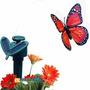 Hermosa Mariposa Decorativa Energía Solar Jardin Buen Regalo