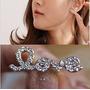 Lindos Aretes Love Dorados Con Cristales Importados En Stock