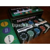 Poker 200 Fichas - Con Fichero Y Caja De Metal