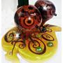 2 Buhos Sobre Hoja Lampara Decorativa Artesania Hogar Regalo