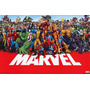 Marvel Poster Original Enmarcado!!!
