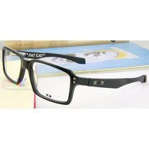 Lentes De Medida Oakley Fat Cat Negro Brillante Y Negro Mate