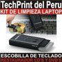 Kit Limpieza Laptop Cepillo Para Teclado + Restaurador Cd Dv