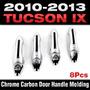 Hyundai Tucson 2010 - 2013 Manijas Cromadas Con Carbon
