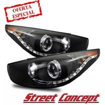 Faros Ojos De Angel Hyundai Tucson 11 - 14 Street Concept !!