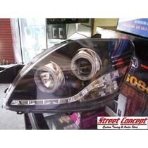 Faros Ojos De Angel Toyota Yaris 06 - 13. En Street Concept