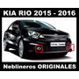 Faros Neblinero Kia Rio 2015 - 2016 Originales De Kia