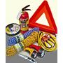 Auto Set:triangulo Extintor Cable Soga 2 Linternas Y Navaja