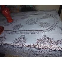 Mantel Tejido Para Mesa De 6 Y 8 Sillas,perla O Blanco Nuevo