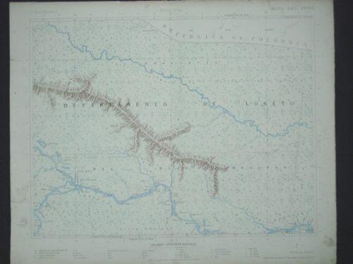 Mapa De Loreto Y Del Bajo Amazonas, Antonio Raimondi 1883