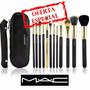 Set De 12 Brochas Mac Para Maquillaje Profesional
