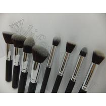 Aliferstyler Set De 8 Brochas Kabuki Para Maquillaje