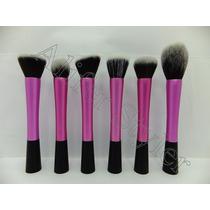 Aliferstyler Set 6 Brochas Kabuki Maquillaje Rosado- Negro
