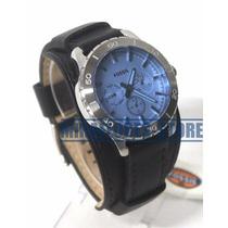 Reloj Fossil Bq1649 Dial Azul Correa De Cuero Para Caballero