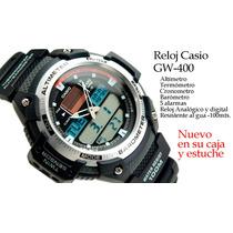 Reloj Casio Sgw 400,altímetro,termometro,barímetrocronometro