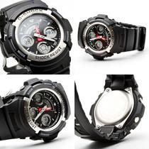 Reloj Casio G-shock Militar Táctico Negro Metal Black Aw-590