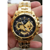 Reloj Casio Edifice Dorado Ef-550fg - 100% Original Sellado