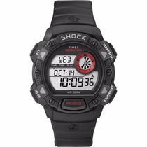 Reloj Timex Shock Resistant, Alarmas, 2 Horas, Luz Indiglo!