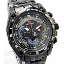 Reloj Casio Edifice Ef 550rbbk-1av Red Bull Negro- Colores