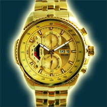 Reloj Casio Edifice Dorado Ef-558f Original Sellado