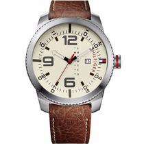 Reloj Tommy Hilfiger 50mm 1791013 Hombre Caja Correa D Cuero