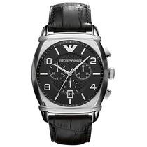 Reloj Emporio Armani Ar0347 Cronógrafo De Cuero Nuevo Caja