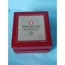 Estuche De Lujo Reloj Swiss Military Hanowa, Cuero,coleccion