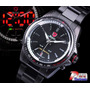 Reloj Led Shark Acero Inoxidable Black Taquimetro Rotatorio