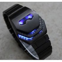 Reloj Led Metalico Tipo Iron Man Mark Ii Con Luces Led