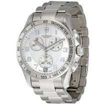 Reloj Victorinox 241499 Cronógrafo Suizo Plateado Nuevo Caja