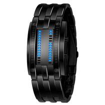 Reloj Hombre Led Binario Azul Modelo Samurai Storm