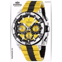 Festina F16659-7+cronografo+correa Resina+acuat 100mt