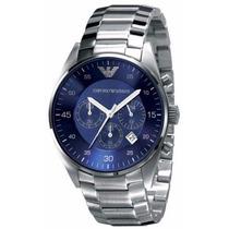 Reloj Emporio Armani Ar5860 Fondo Azul Cronógrafo Nuevo Caja