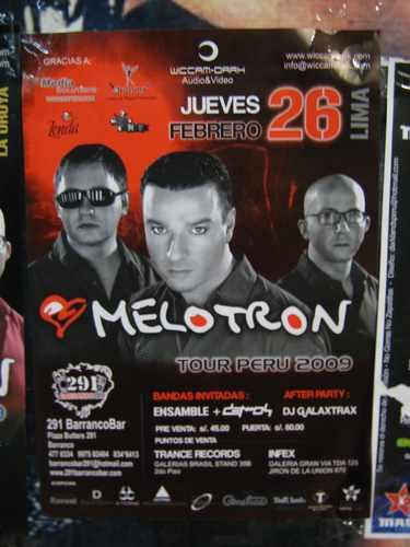 Melotron Poster Presentacion En Lima 2009