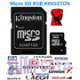 Oferta! Memoria Micro Sd 8gb Kingston ¡100% Orig. & Sellado!