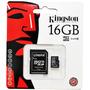 Memoria Micro Sd 16 Gb Kingston Class 10 Sellada Gtia 1 Año