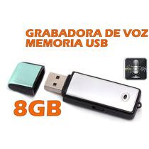Grabadora De Voz, Espia, Memoria Usb, 8gb, Envio Gratis
