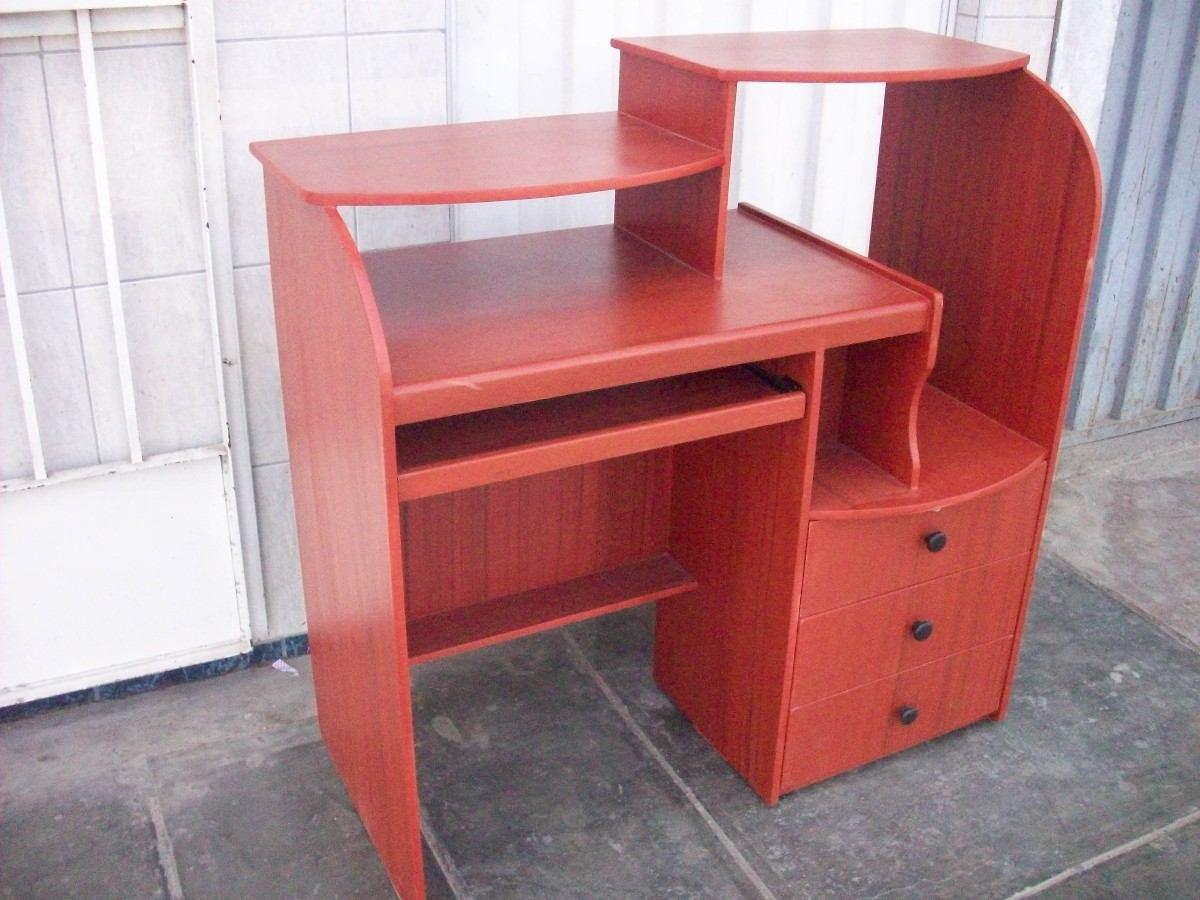 Mesa para computadora 3 cajones s 205 00 en mercadolibre for Diseno de mesa para computadora
