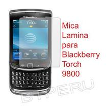 Mica Film Protector De Pantalla Lamina Blackberry Torch 9800