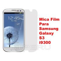 Mica Protector Pantalla Lamina Samsung Galaxy S3 I9300 Film