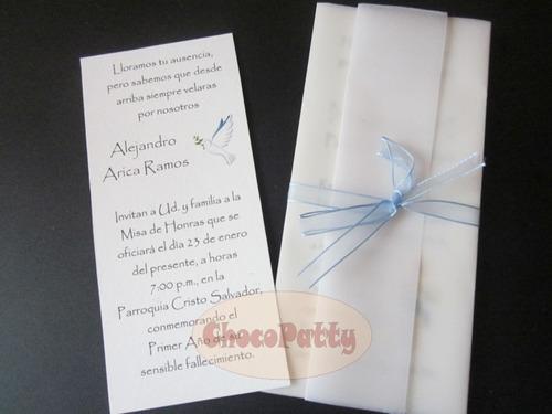 Tarjeta De Invitación Para Misa De Honras Imagui