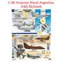 1/48 Decal Skyhawk Tanque Mirage Mig Kfir Argentina Sukhoi