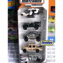 Mc Mad Car Pack 5 Auto Matchbox Hummer Jeep Militar Mbx 1/64