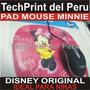 Pad Mouse Minnie Disney Original Para Niñas