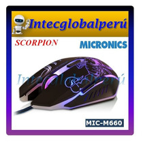 Mouse Gamer Micronics Scorpion M660 Luces 7 Colores