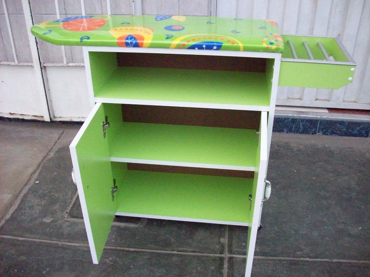 Muebles de madera para planchar ropa - Mueble para guardar tabla de planchar ...