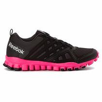 Zapatillas Reebok Negras Rosado Realflex 3.0 Mujeres