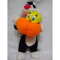 Silvestre Y Piolin Peluche Looney Tunes Warner Bros Original