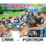 Armable Didactico 2 En 1 Auto Carrera Y Tractor Piezas Lego