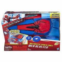 Lanza Discos Motorizado Spiderman Hombre Araña De Hasbro.